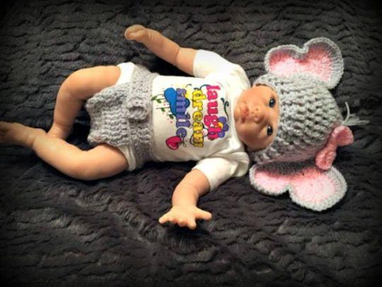 Elephant Newborn Baby Crochet Knit Costume Infant Handmade Diaper ... | 405x540