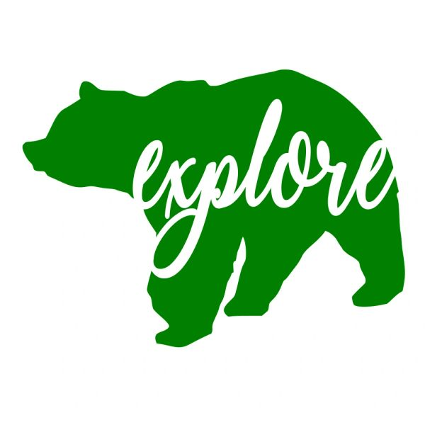Bear Explore Decal - Adventure Decal - Bear Decal - Explore - Adventure - Travel Michigan - Travel Decal