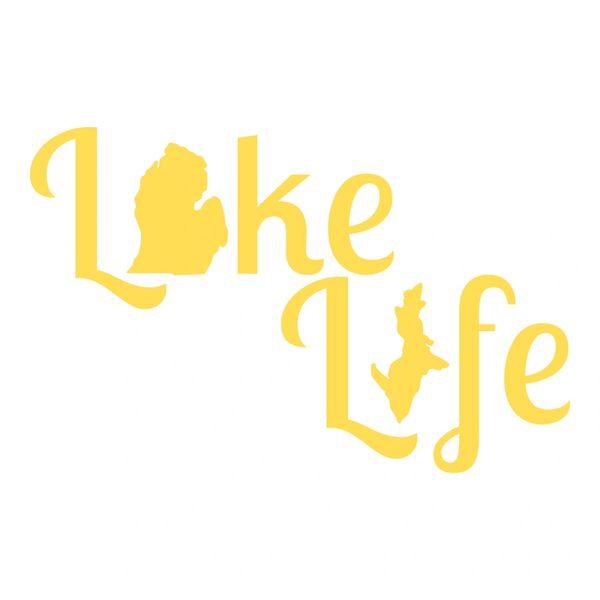 Lake Life Vinyl Car Decal