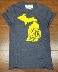 Michigan Map Wolverine T-Shirt - Wolverine Shirt - Michigan Shirt - Michigan Wolverines - Michigan Pride - Support the Wolverines - MADE IN MICHIGAN!