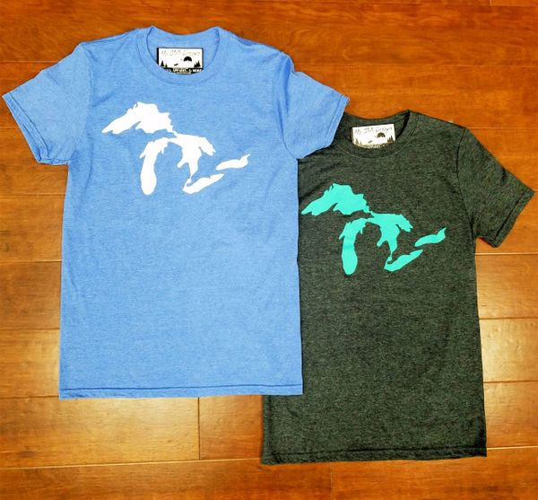 Great Lakes T-Shirt - Great Lakes - Michigan Shirt - Michigan Great Lakes - Michigan Pride - MADE IN MICHIGAN!