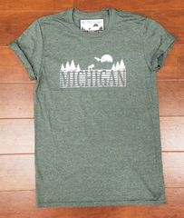 Michigan Text Woods T-Shirt - Michigan Woods - Michigan Outdoors - Michigan Wilderness - Michigan T-Shirt - MADE IN MICHIGAN!
