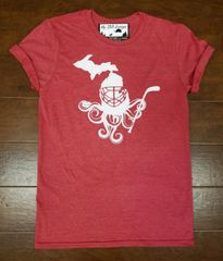 Michigan Map Octopus T-Shirt - Michigan Octopus Shirt - Octopus Shirt - MADE IN MICHIGAN!