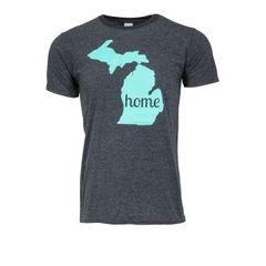 Michigan Map Home T-Shirt - Michigan Home Shirt - Home Shirt - MADE IN MICHIGAN!
