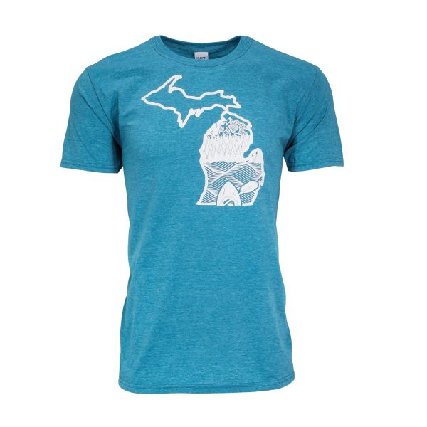 Michigan Kayak T-Shirt - Michigan Kayak- Michigan Outdoors - Michigan Wilderness - Michigan T-Shirt - MADE IN MICHIGAN!