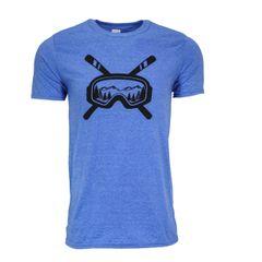 Skis and Ski Goggles T-Shirt - Michigan Ski - Ski Shirt - Michigan Outdoors - Michigan Wilderness - Michigan T-Shirt - MADE IN MICHIGAN!