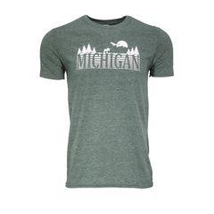 Michigan Text Woods T-Shirt - Michigan Woods - Michigan Outdoors - Michigan Wilderness - Michigan T-Shirt - MADE IN MICHIGAN!