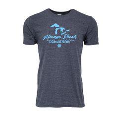 Always Fresh Sometimes Frozen T-Shirt - Michigan T-Shirt - MADE IN MICHIGAN!