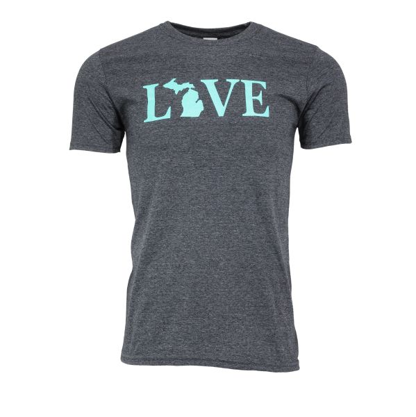 Love Text Michigan T-Shirt - Love Text Michigan - Michigan Shirt - Love Michigan - Michigan Pride - MADE IN MICHIGAN!