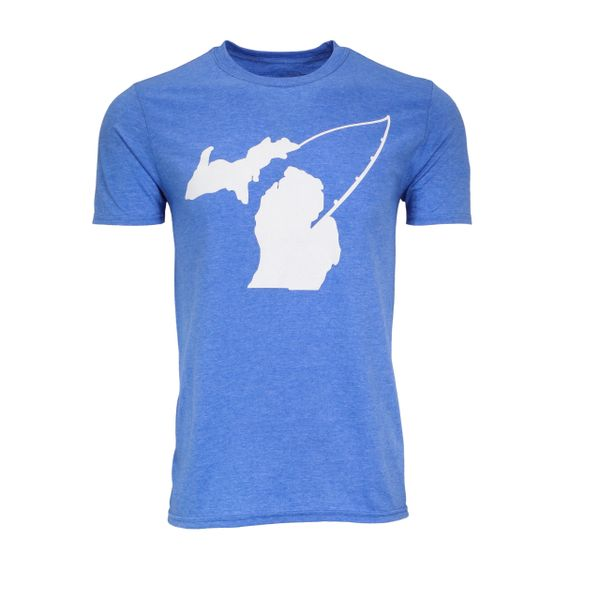 Michigan Fishing T-Shirt - Michigan Fishing - Michigan Shirt - Fish Michigan - Michigan Pride - MADE IN MICHIGAN!