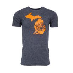 Michigan Tiger T-Shirt - Tigers Shirt - Michigan Shirt - Michigan Tigers - Michigan Pride - Support the Tigers - MADE IN MICHIGAN!