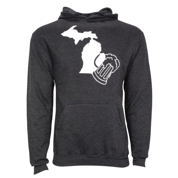 Michigan Beer Hoodie- Michigan Beer- Drink Local- Local- Beer-Michigan Beer Lover- Michigan made