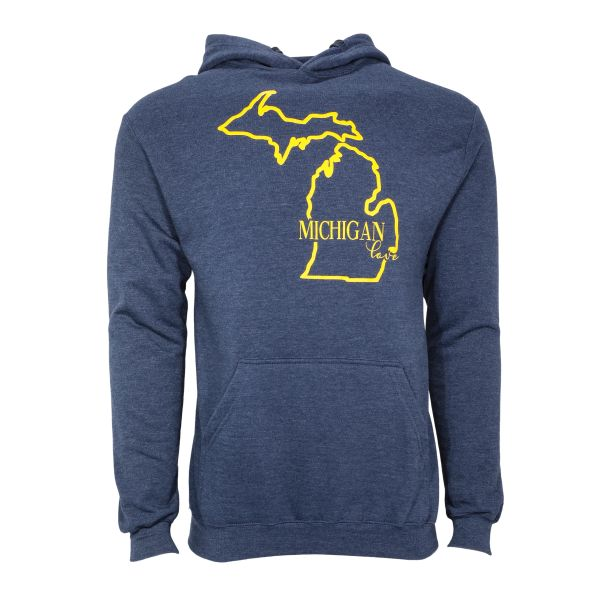 Michigan Hoodie- Love Michigan- Michigan Love Hoodie-