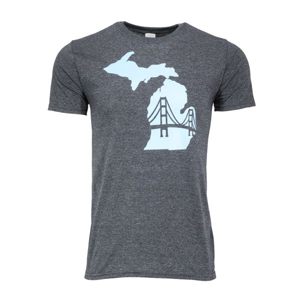 Michigan Mackinac Bridge TShirt- Michigan- Mackinaw- Mighty Mac bridge- Michigan Up North- Made in Michigan