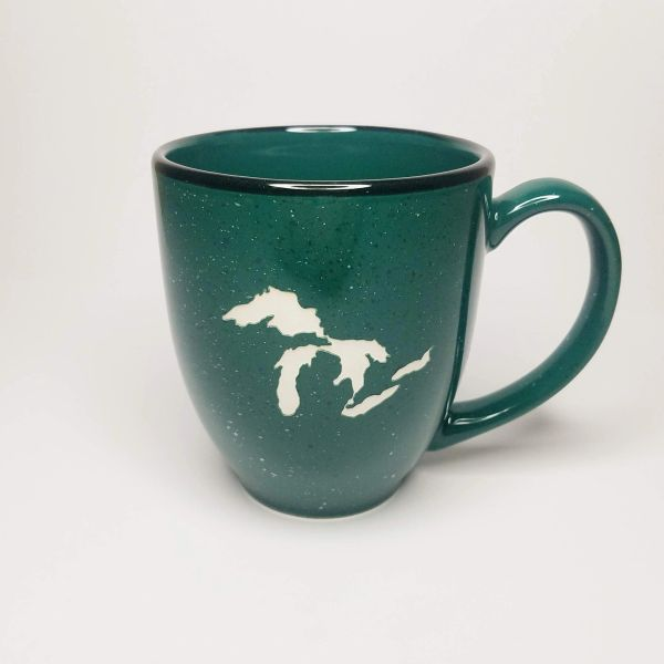 Speckled Bistro Michigan Great Lakes-Sandblasted Coffee Mug-