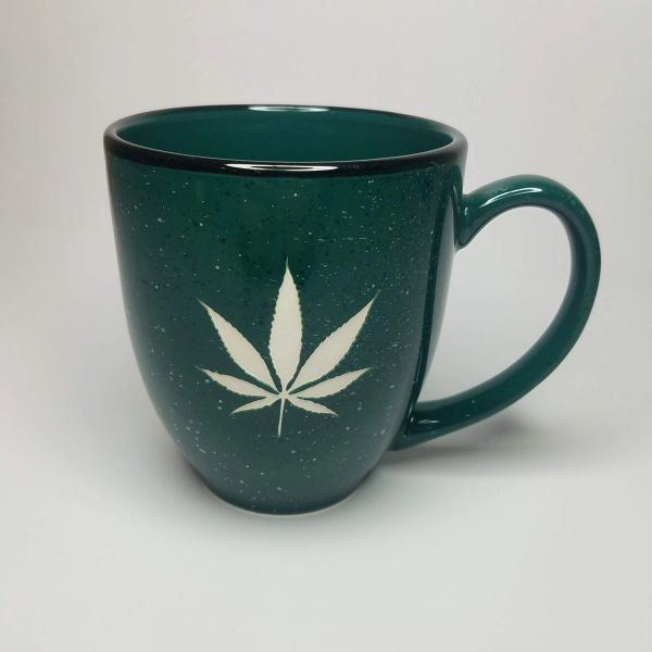 Speckled Bistro Marijuana Coffee Mug- Sandblasted Coffee Mug