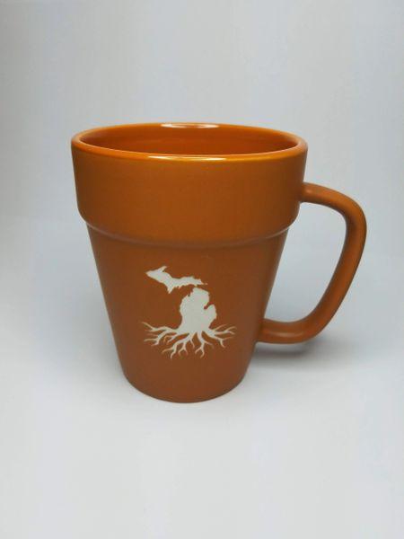 Roots in Michigan Terracotta Coffee Mug