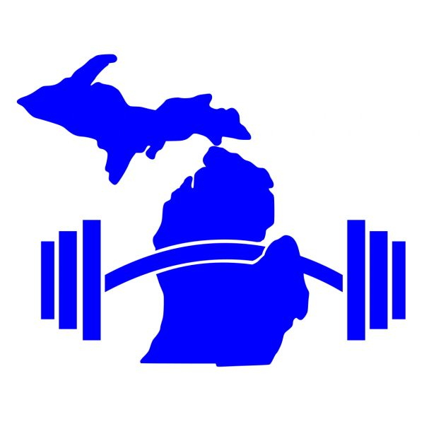 Michigan Map Barbell Decal