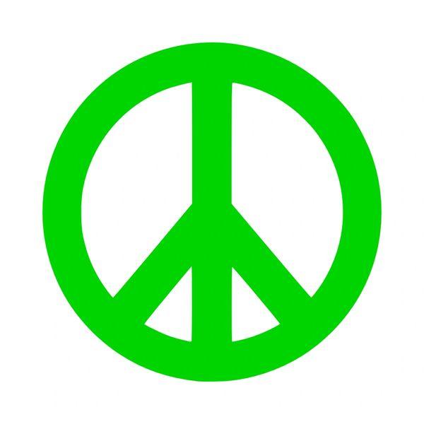 Peace Sign Vinyl Car Decal