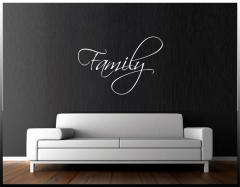 Family Script Wall Decal