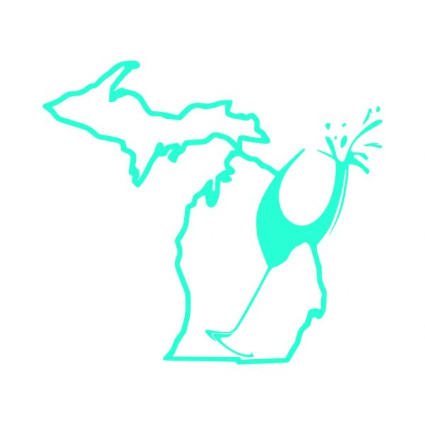 Michigan Wine Vinyl Car Decal