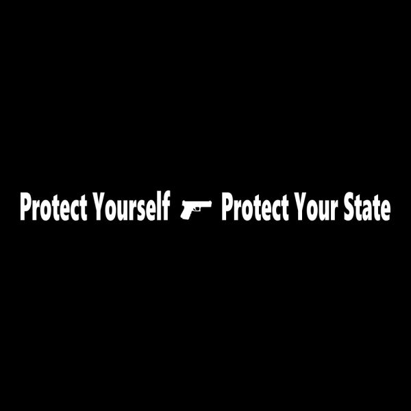Protect Yourself Protect Your State Vinyl Car Decal