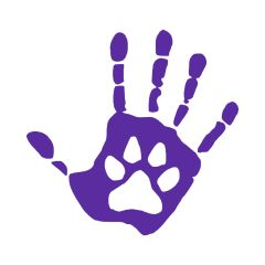 Hand and Paw Print Vinyl Car Decal