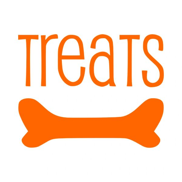 Treats with Bone Vinyl Car Decal