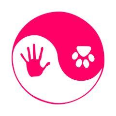 Animal Paw and Human Hand Ying Yang Vinyl Car Decal