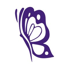 Butterfly Side Profile Vinyl Car Decal