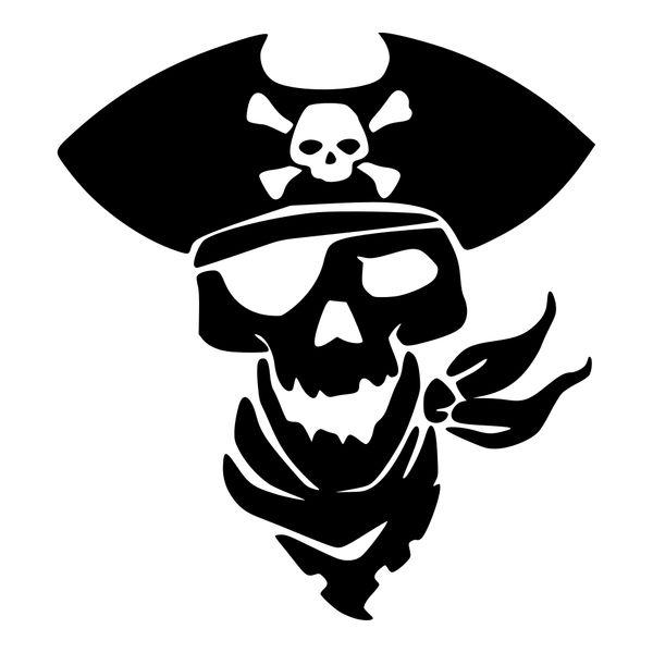 Pirate Vinyl Car Decal