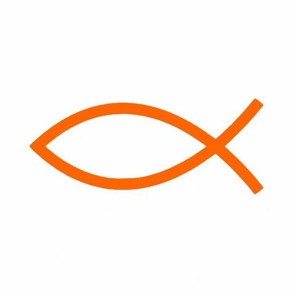 Jesus Fish Symbol Ichthus Vinyl Car Decal