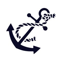 Anchor with Rope Vinyl Car Decal
