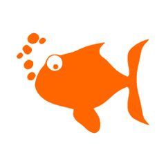 Fish with Bubbles Vinyl Car Decal