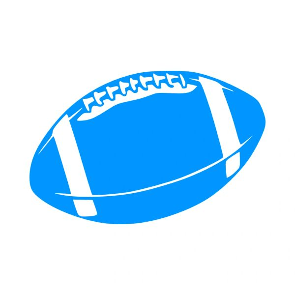 Football Vinyl Car Decal