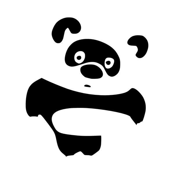 Panda Bear Vinyl Car Decal