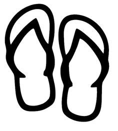 Flip Flops Vinyl Car Decal