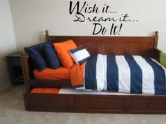 Wish It dream it do it Wall Decal