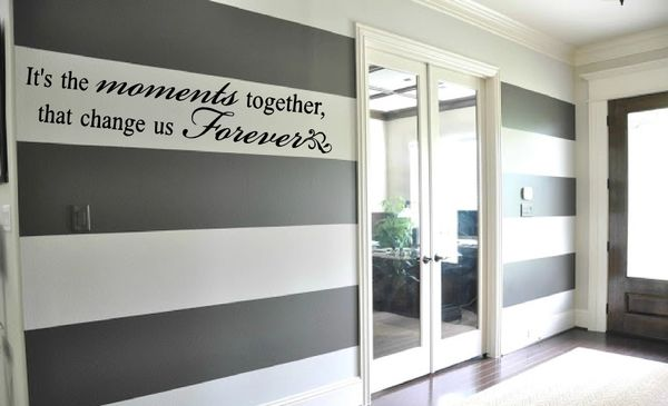 Its the moments together that change us forever Wall Decal