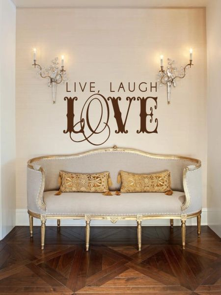 Live laugh love vintage Wall Decal