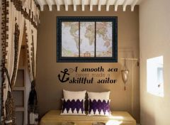 A smooth sea never made a skillful sailor Wall Decal