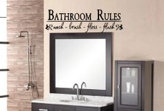 Bathroom Rules Wall Decal