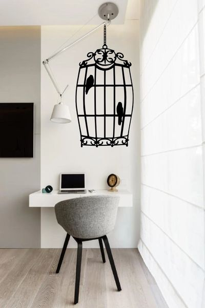 Birds in a cage Wall Decal
