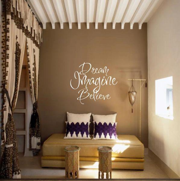Dream Imagine Believe Wall Decal