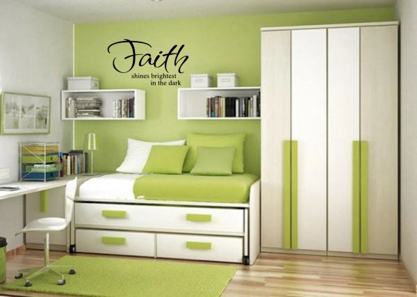 Faith shines brightest in the dark Wall Decal