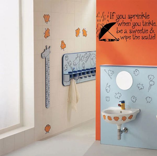 If you sprinkle when you tinkle be a sweetie & wipe the seatie Wall Decal