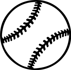 Baseball Vinyl Car Decal