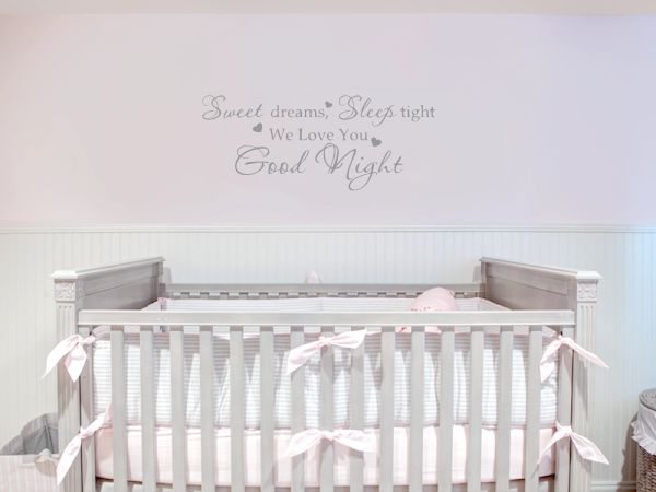 Sweet Dreams sleep tight we love you good night Wall Decal