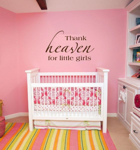 Thank heaven for little girls Wall Decal