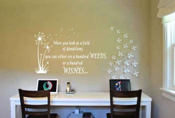 When you look at a field of dandelions Wall Decal